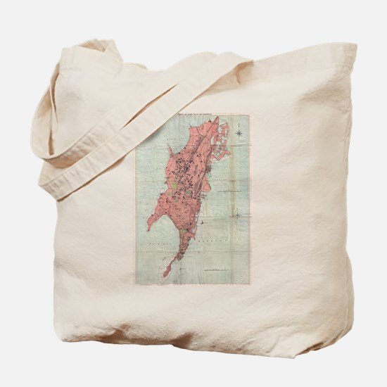 Vintage Map of Bombay India (1895) Tote Bag