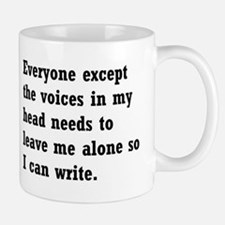 Leave Me Alone to Write Small Mugs