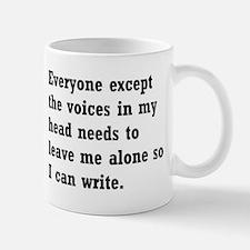 Leave Me Alone to Write Small Small Mug