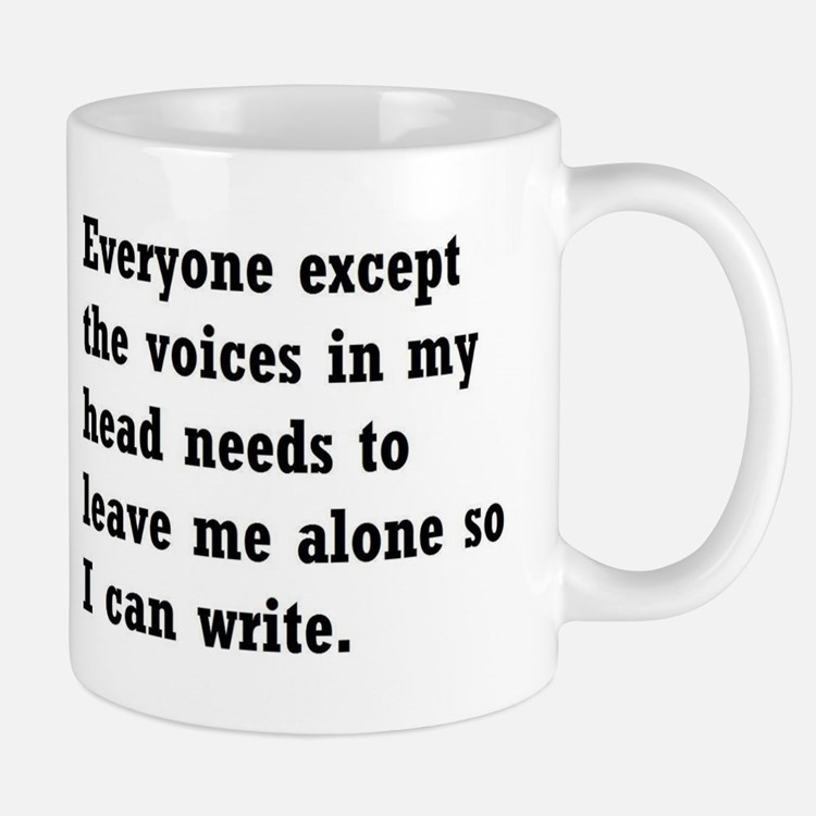 Leave Me Alone to Write Small Small Mug