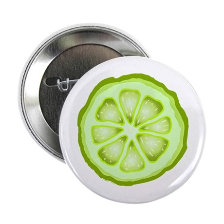 "Lime Slice 2.25"" Button (100 pack)"