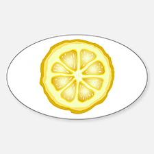 Lemon Slice Sticker (Oval)