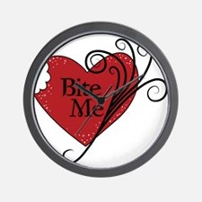 Bite Me Vampire Heart Wall Clock
