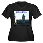 Folsom Prison Women's Plus Size V-Neck Dark T-Shir