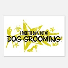I ROCK THE S#%! - DOG GROOMING Postcards (Package