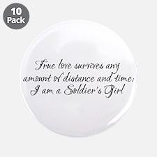 "True Love Survives 3.5"" Button (10 pack)"