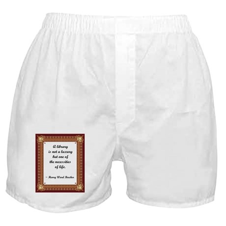 A Little Library Boxer Shorts