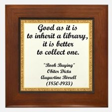 Inherit A Library Framed Tile