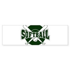 SOFTBALL *1* {green} Bumper Sticker