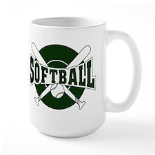 SOFTBALL *1* {green} Mug