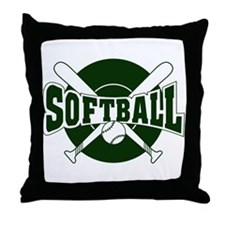 SOFTBALL *1* {green} Throw Pillow
