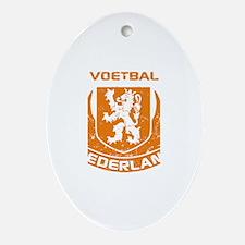 Voetbal Nederland Crest Ornament (Oval)