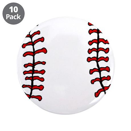 """BASEBALL *14* 3.5"""" Button (10 pack)"""