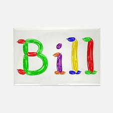 Bill Balloons Rectangle Magnet