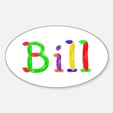 Bill Balloons Oval Stickers