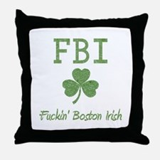 Funny Boston Irish Throw Pillow