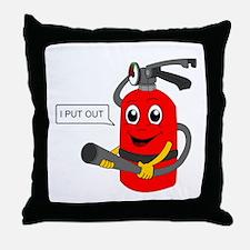 i put out, cartoon Throw Pillow