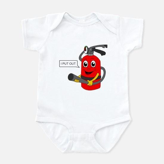 i put out, cartoon Infant Bodysuit