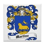 Martine Coat of Arms Tile Coaster