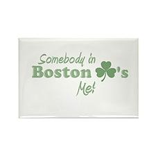 Somebody in Boston Rectangle Magnet