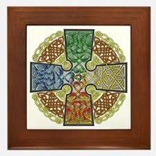 Elemental Celtic Cross Framed Tile