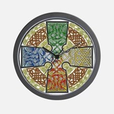 Elemental Celtic Cross Wall Clock
