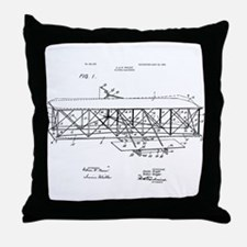 Wright Flyer Throw Pillow