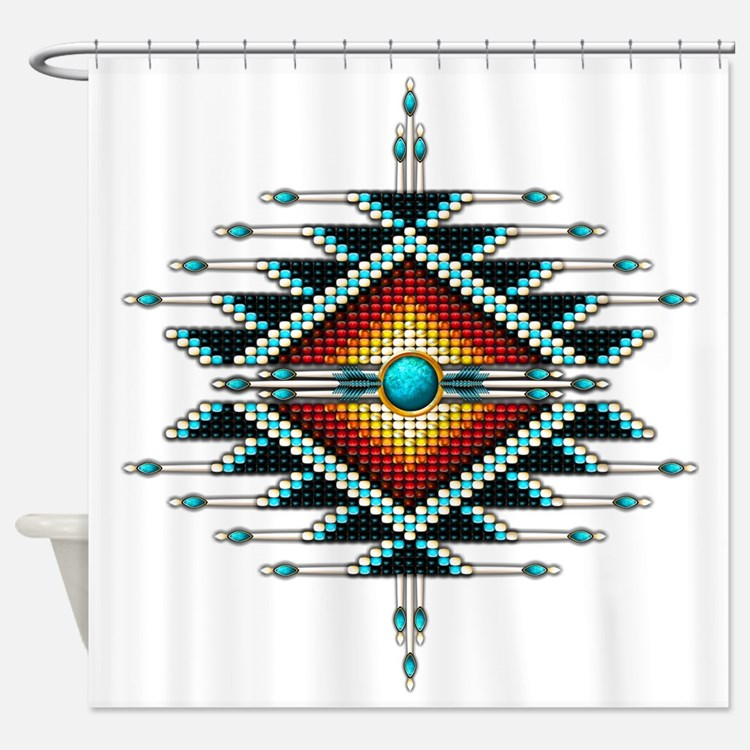 Cute Sunburst Shower Curtain