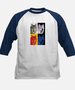 4 Wolf Faces Tee