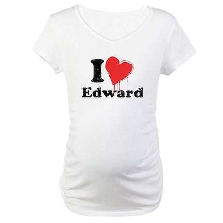 I heart edward Maternity T-Shirt