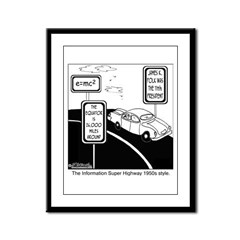 Information Super Highway 1950s Style Framed Panel