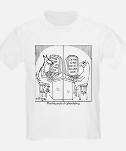 The hazards of cyberdating T-Shirt