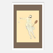 Deco Tennis Girl - Tennis Postcards (Pk of 8)