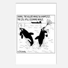 Shampoo, the Oil Spill Cleaning Whale Postcards (P