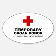 Temporary Organ Donor Sticker (Oval)