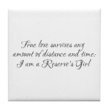 True Love Survives Tile Coaster
