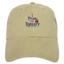 Pray the Rosary - Baseball Baseball Cap Khaki or White