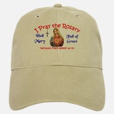 Pray the Rosary - Baseball Baseball Baseball Cap White/Khaki Oval Lo