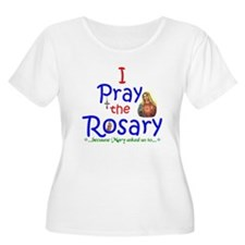Pray the Rosary - Women PLUS Size Scoop Neck T-Shi