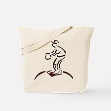 PITCHER *baseball 4* {crimson Tote Bag