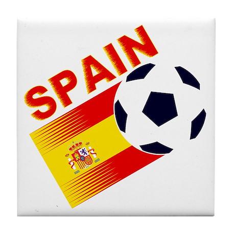 Spainish Soccer Tile Coaster