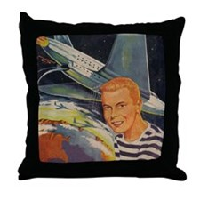 Tom Swift Junior Flying Lab Throw Pillow