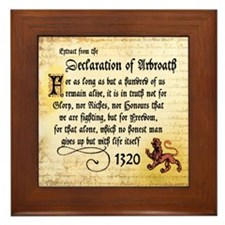 The Declaration of Arbroath Framed Tile