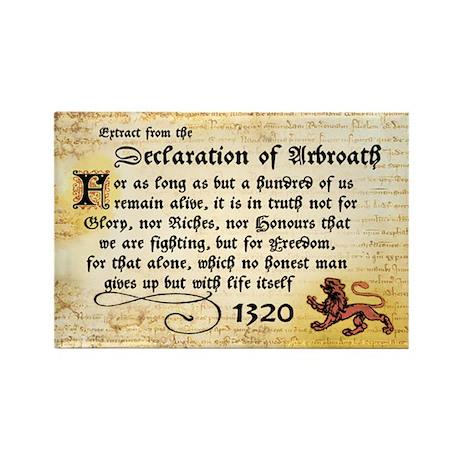Declaration of Arbroath Rectangle Magnet