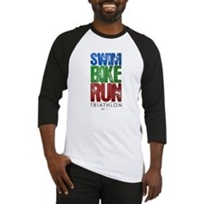 Swim, Bike, Run - Triathlon Baseball Jersey