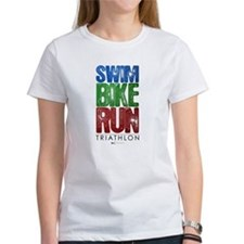 Swim, Bike, Run - Triathlon Tee