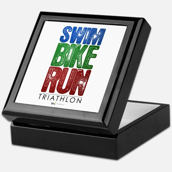 Swim, Bike, Run - Triathlon Keepsake Box