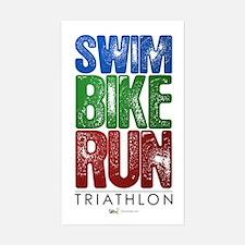 Swim, Bike, Run - Triathlon Decal