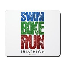 Swim, Bike, Run - Triathlon Mousepad