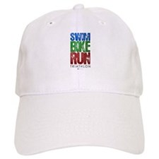 Swim, Bike, Run - Triathlon Baseball Cap